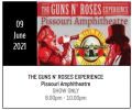 GUNS N ROSES: 2nd JULY 2022 PISSOURI €22.50 (SHOW ONLY)