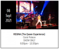 REGINA: Wednesday 8th September at Coral Palace €22.50 (SHOW ONLY)